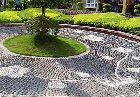 园路铺装九种形式