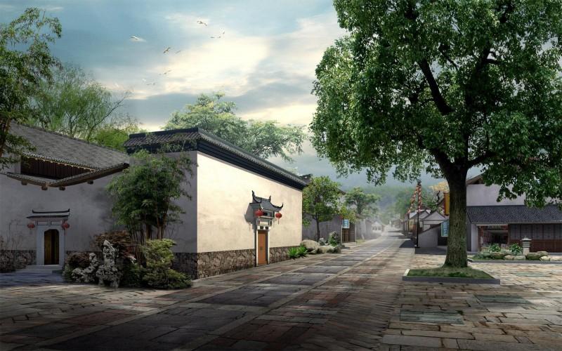 宽屏园林壁纸 (1)