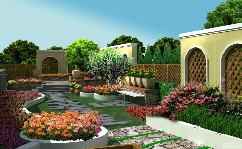 垂直绿化_在植物墙体上见到的多色植物变色木