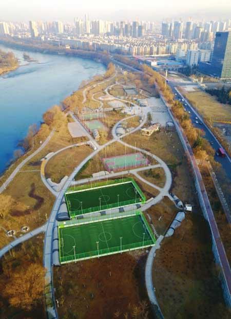 兰州黄河风情线规划健身公园
