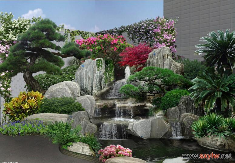 水景假山 (2)