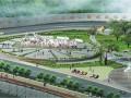 雅安高速公路出口——茶马广场景观