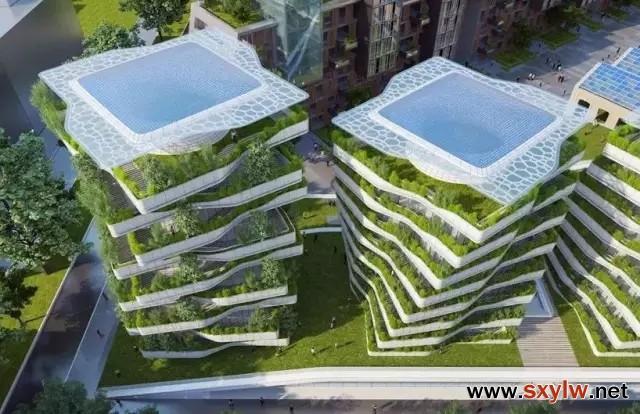 第四代住房:别墅四合院相结合的空中花园