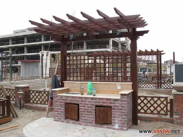 庭院设计之一烧烤台