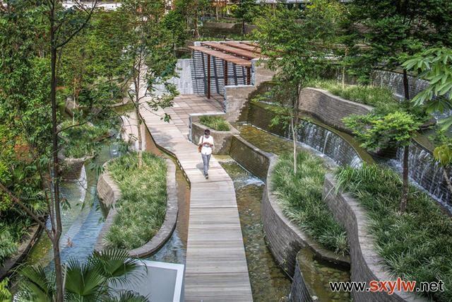 住宅小区景观 阶梯式 退台式景观设计参考