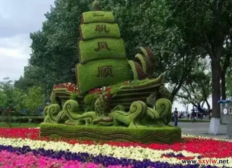 仿真绿雕工艺品 大型工艺品订做 仿真动物造型制作-- 沭阳县新河镇崔华宝园艺场