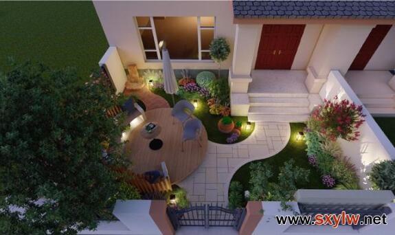 庭院设计:45平一楼温馨小花园赏析